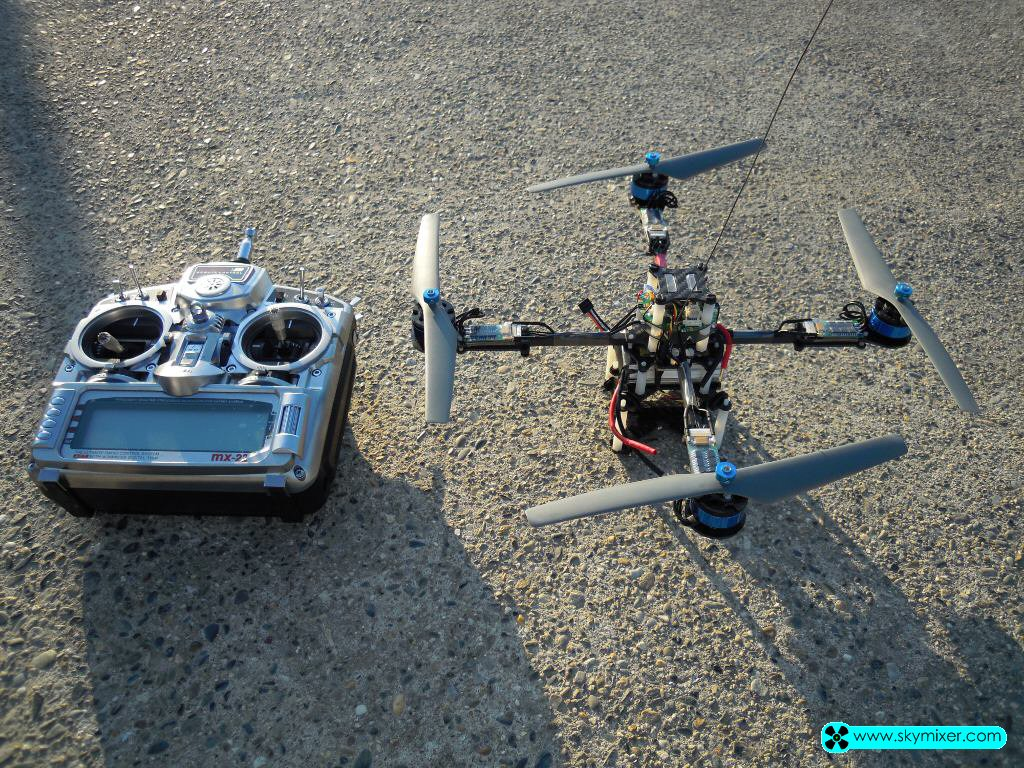 SkyMixer50 Evo1 with tilt video recorder payload and transmitter